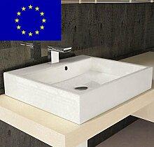 Design-Waschbecken Gäste-WC 50cm zur Wandmontage