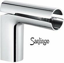 Design Wasserfall Waschbecken Einhebel Armatur Chrom Sanlingo