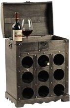 Design Wein Flaschen Aufbewahrung Regal Holz Truhe