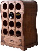 Design Wein Stand Steh Regal 12x Flaschen