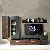 Design Wohnwand in Dunkelgrau und Bronzefarben 300
