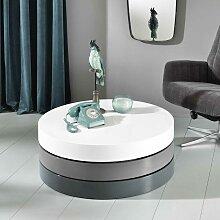 Design Wohnzimmertisch in Weiß und Grau