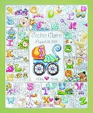 Design Works Kreuzstichpackung Baby ABC -