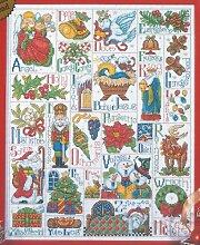 Design Works Weihnachten ABC Sampler, mehrfarbig