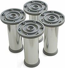 Design61 4er Set Sockelfuss Stellfuss Aluminium