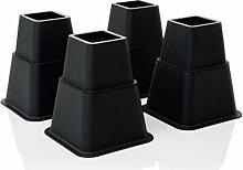 Design61 Möbelerhöher höhenverstellbar (3 verschiedene Höhen) Betterhöhung Möbelerhöhung Tischerhöher Elefantenfuß Bed Riser 8St. (4 hohe + 4 kurze) für Füße bis 68x68 mm