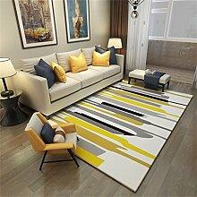 Designer Bereich Teppich für Wohnzimmer Nordic Style rutschfeste Border Matte für Schlafzimmer Esszimmer Kurzer Haufen Designer Rechteck Teppich - Fashion Geometric Pattern ( größe : 120*160cm )