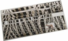 Designer-Computer-Tastatur-Aufkleber, Zebramuster