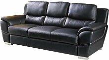 Designer Couches Ledersofa Leder-Sofa-3 Sitzer