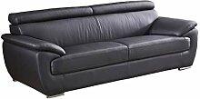 Designer Couches Ledersofa Leder-Sofa 3-Sitzer