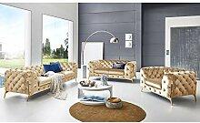 Designer Couchgarnitur 3-2-1-Sitzer Chesterfield