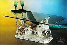 Designer Couchtisch Ben Hur White ArtDeco