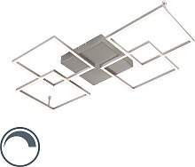 Designer Deckenleuchte Stahl inkl. LED - Plazas