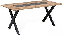 Designer Esstisch aus Wildeiche Massivholz und