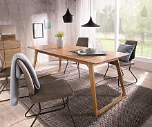 Designer-Esstisch Wyatt 200x90 cm Akazie Natur