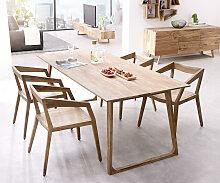 Designer-Esstisch Wyatt 200x90 cm Sheesham Natur
