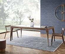 Designer-Esstisch Wyatt 200x90 Sheesham Natur Glas