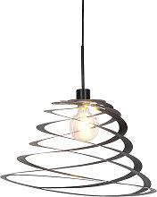 Designer Hängelampe mit Spiralschirm 50 cm -