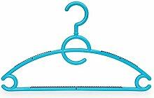 Designer Kleiderbügel mit Antirutschschutz Blau -