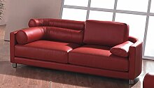 Designer Ledersofa Ledermöbel Leder-Sofa-3 Sitzer Garnitur Couch neu 351-3-R