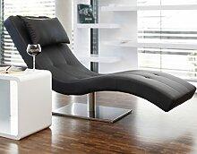 Designer-Liege Chaise-Longue aus Kunstleder