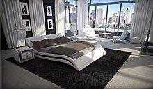 Designer Luxus Gelbett Accent Weiß 200 x 220 cm Dual Designerbett Softside Komplett Se