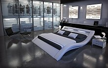 Designer Luxus Gelbett LOOK Weiß 180 x 200 cm LED