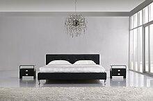 Designer Luxus Marylin Schwarz Gelbett 180 x 200