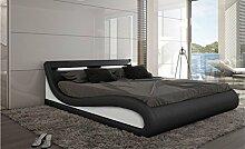 Designer Luxus Paladium Schwarz LED Beleuchtung Gelbett 200 x 220 cm Mono Designerbett Softside Komplett Se