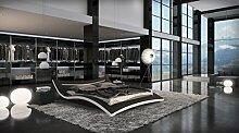 Designer Luxus Seducce Schwarz LED Beleuchtung Gelbett 200 x 220 cm Dual Designerbett Softside Komplett Se