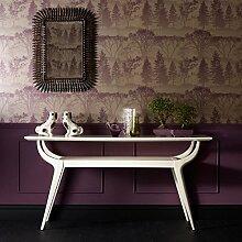 Designer Mirage Tapete mit Waldblumen, Violett/Grau