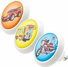 Designer Möbelknopf Set bunt Set 0802 3er Kinder