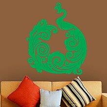 Designer Peacock Easy Peel & Stick Wandtattoo Vinyl-Aufkleber-Farbe Wählen