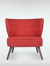 Designer Retro Sessel BRENTWOOD 80 x 77 x 72 cm (BxHxT) Loungesessel ro