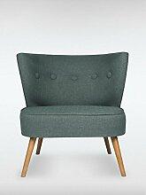 Designer Retro Sessel BRENTWOOD 80 x 77 x 72 cm (BxHxT) Loungesessel dunkelgrau