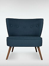 Designer Retro Sessel BRENTWOOD 80 x 77 x 72 cm (BxHxT) Loungesessel blau