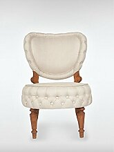 Designer Retro Sessel CARMEL 60 x 90 x 71 cm (BxHxT) Loungesessel beige