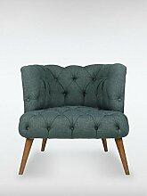 Designer Retro Sessel Polstersessel PALO ALTO 75 x 76 x 80 cm Loungesessel dunkelgrau