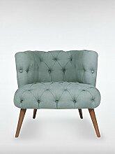 Designer Retro Sessel Polstersessel PALO ALTO 75 x 76 x 80 cm Loungesessel indigo-blau
