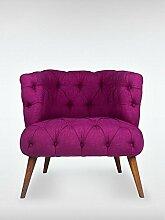 Designer Retro Sessel Polstersessel PALO ALTO 75 x 76 x 80 cm Loungesessel lila