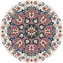 Designer Runder Teppich im Ethno-Stil für