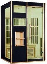 Designer Sauna Wärmekabine Infrarot mit Carbon Heizung Modell Andenes in schwarz
