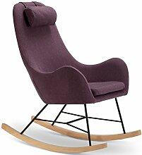 Designer Schaukel-Stuhl aus Stoff mit Armlehnen