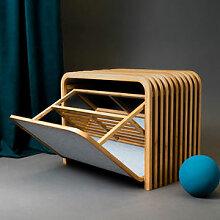 Designer-Sitzbank mit Schuhschrank schafft