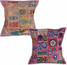 Designer Sofa Kissenbezug Vintage Bett Kissenbezug 45 x 45 Cm