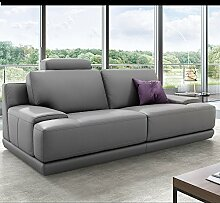 Designer Sofa Ledergarnitur Ledercouch Couchgarnitur Sofagarnitur 2Sitzer Sitzgruppe