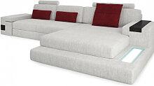 Designer Sofa Textil Wohnlandschaft HAMBURG III -