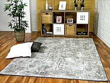 Designer Soft-Velours Teppich Vintage Grau in 24