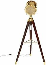 Designer Stehlampe Hollywood Lampe Tripod Gold