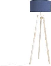 Designer Stehleuchte Dreifuß weiß mit blauem